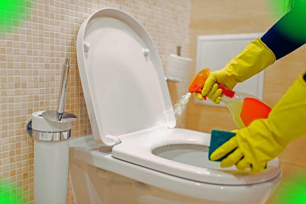 Απολύμανση λεκάνης wc